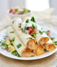 Chipotle Cheese Slow Cooker Chicken Taquitos | www.cookingandbeer.com | @jalanesulia