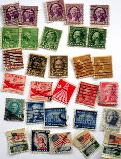 cancelled postage stamps on @etsy!
