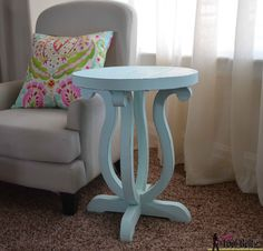 AMAZING!/ Build a cute side table from a simple 2 x 10 board. Free plans and pattern on hertoolbelt.com