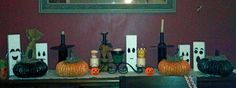 DIY Dryer Vent Pumpkins and Wood Scrap Ghosts.  http://www.hometalk.com/561108/quick-amp-easy-halloween-decor/photo/109264