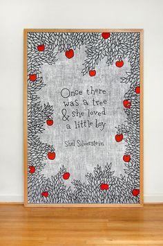 love this chalkboard art - shel silverstein