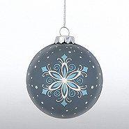 Hand-Painted Ornament Bulb - Snowflake   Baudville