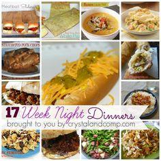 17 easy week night dinners