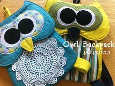 Owl Backpack Pattern INSTANT Download PDF Pattern by TheSewingLoft