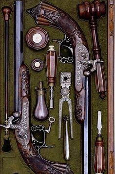 Flintlock pistols. Gorgeous!