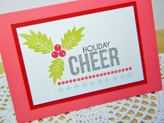Holiday Cheer Card by Melissa Bickford for Papertrey Ink (July 2014)