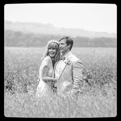 Kelly Reilly and Kyle Baugher moments after their wedding in a picturesque field in Somerset by Ria Mishaal Photography