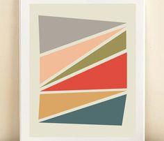 Geometric Triangles Print