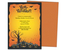 hollows halloween party template