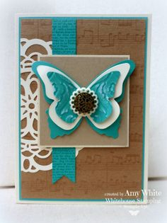 White House Stamping: Antique Bermuda Butterfly...