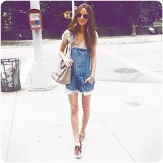 #HUDStyle: #SomethingNavy's coveted summer style in Hudson Jeans Florence Shortalls.