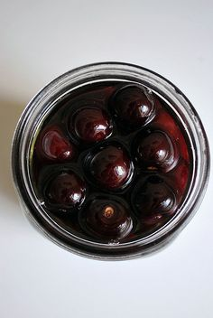 homemade liquor cherries.  Fruit AND booze?  What's not to love?!