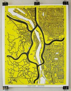 Portland OR. Map