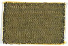 Bauhaus Weaving Workshop, Textile Sample for Tubular Furniture Upholstery (yellow and black), after 1927, Harvard Art Museums/Busch-Reisinger Museum.