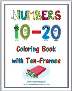 This file contains the numbers 10 - 20 and a cover page.All the pages are in black and white for easy photocopying.The cover page is includ...
