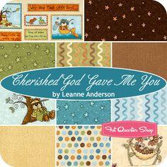 Cherished God Gave Me You Fat Quarter Bundle Leanne Anderson for Henry Glass Fabrics