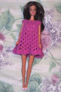Fashion Doll Nightgowns - free crochet patterns