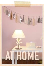 girly home office cupcak, office looks, at home, tassel garland, lamp, homes