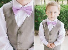 Purple bow tie ring bearer
