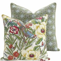 Bring #spring time into your space by adding a pair of these #havertys Tree Top Pillows to your sofa.