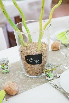 Mariage d co on pinterest - Idee centre de table mariage ...
