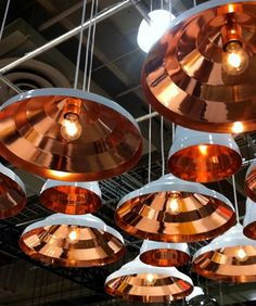 Copper lights, Tom Dixon