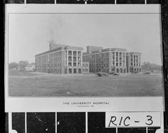 Augusta, 1920s.; University Hospital which was completed in 1914 at an approximate cost of $500,000. It was designed by G. Lloyd Preacher. I was born in this hospital in 1968, my brother in 1970, and my boys in 1992 & 1995