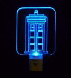 Personalized Tardis Doctor Who Night Light,  Can Customize with name