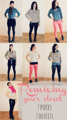 Remixing your wardrobe - 7 pieces 7 ways