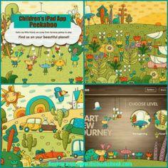 Children's iPad App, Peekaboo: Find Hidden Fun UFO Characters #IPADED