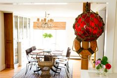 Beautiful Houzz piece on @Tyler Ready's seaside cottage. Pictured: eclectic dining room by Landing Design & Development