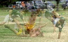 USF Seeker Sean Pagoda gets thrown away during a snitch grab attempt. Photo sequence by AJ Stratemeyer.