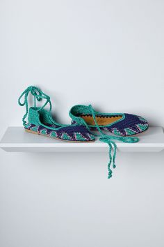 Tidal Pool Ankle-Wrap Flats - Anthropologie.com