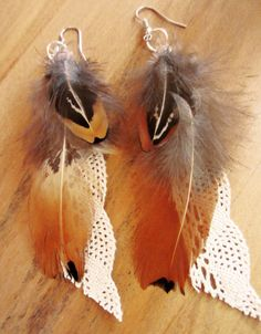 Feather Fabric Earrings