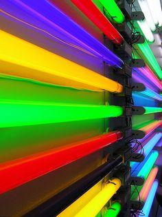 A Flourescent Rainbow #rainbow #colours #colour #