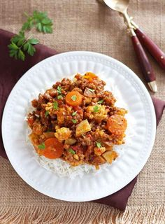 Cauliflower Curry and Rice   25 Delicious Dinners You Can Make With Ground Beef Or Turkey