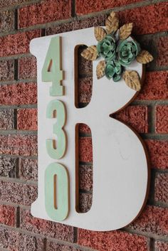 DIY Monogram Address
