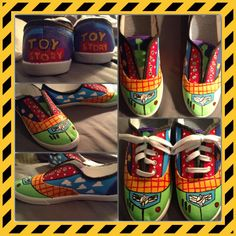 DIY toy story shoes