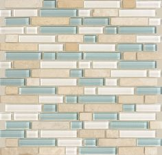 Nancy's TILE -looks more sea green in reality-exactly like I wanted ;;;; Legacy Glass™ - Glass Tile   American Olean