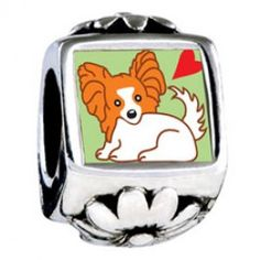 Cartoon Papillion Dog European Charms  Fit pandora,trollbeads,chamilia,biagi and any customized bracelet/necklaces. #Jewelry #Fashion #Silver# handcraft #DIY #Accessory