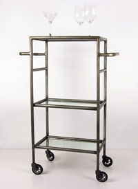 3-level steel bar cart