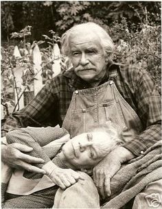 Grandpa and Grandma - loved the Waltons. Awesome Picture!!!