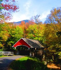 fall foliag, cover bridg, buckets, season, new england, fall autumn, covered bridges, new hampshire, country