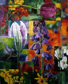 Flowers in Squares by Amanda Dunbar