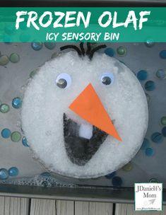 Frozen Olaf -Icy Sensory Bin from JDaniel4's Mom