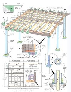 how to build a pergola. and the website has a ton of other step by step instructions for home projects!