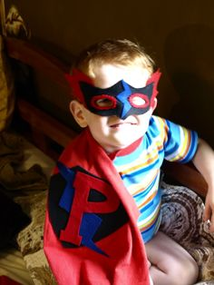 Make a super Hero cape out of an old t-shirt...great snow day or rainy day activity.