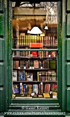 Green Bookshop Window, Bloomsbury Street © Garry KNIGHT (Photographer. London, England). The LAW requires you to credit the photographer. COPYRIGHT LAW REQUIREMENTS: http://pinterest.com/pin/86975836525792650/  HOW TO FIND the ORIGINAL WEB SITE of an image: http://pinterest.com/pin/86975836525507659/ The Golden Rule: http://pinterest.com/pin/86975836525355452/