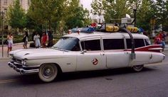 Who you gonna call? The Ghostbusters car!