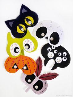 Free printable DIY Halloween masks | Mr Printables